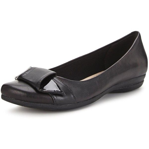 Clarks Discovery Dime Ballerina Shoes featuring polyvore women's fashion  shoes flats black ballet flats special occasion
