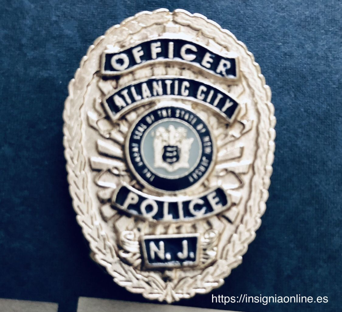 Atlantic city new jersey police badge https