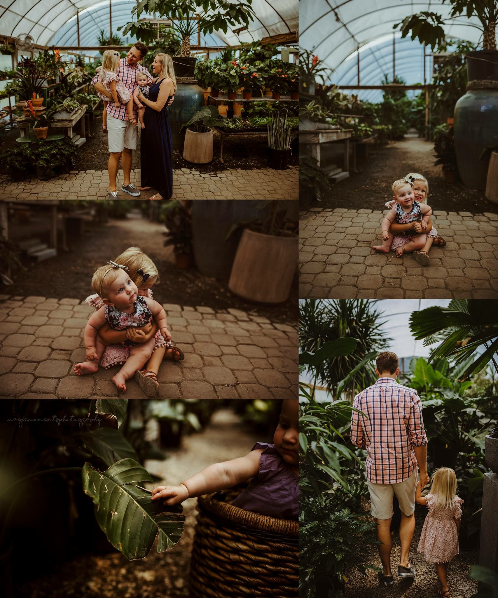 Greenhouse Photoshoot Greenery Family
