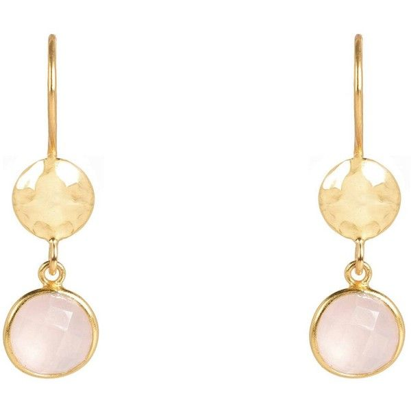 Latelita London Circle And Hammer Earring Gold Dark Blue Chalcedony