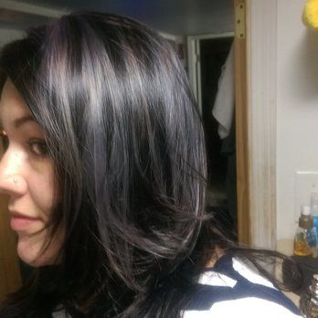 And there you have it sfot lavender highlights with dark sfot lavender highlights with dark chocolate yelp grey hair pmusecretfo Gallery