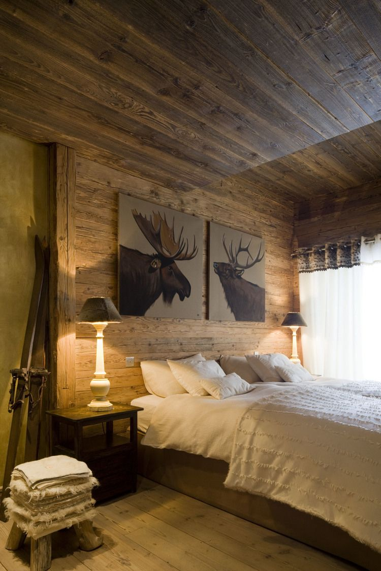 chalets Schweiz #winterchalets #chalersdekor  Déco chambre chalet