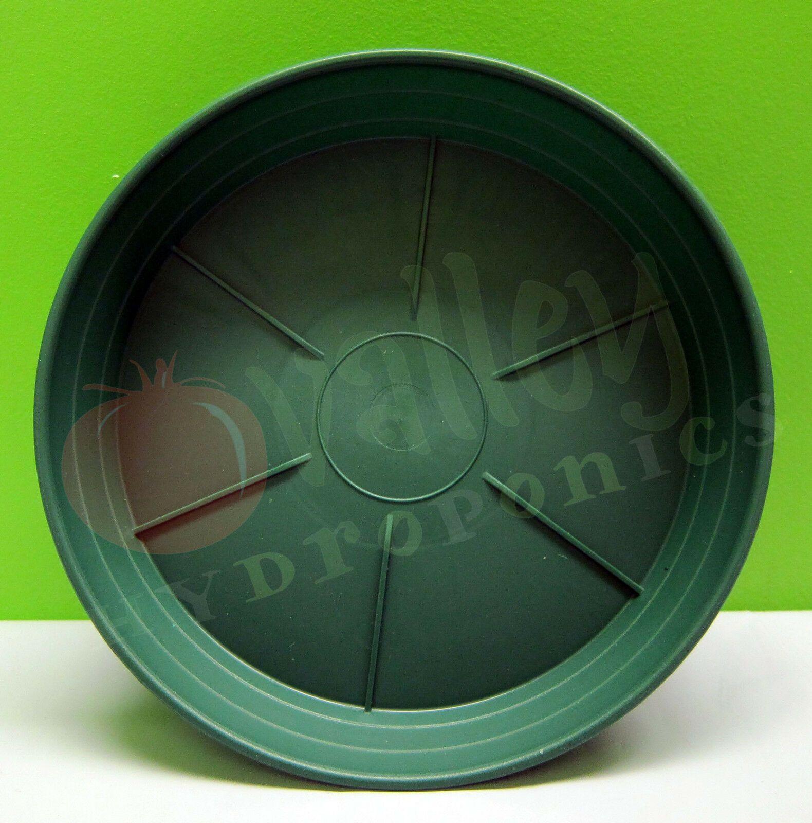 Details About Hydrofarm 6 8 10 12 Inch Green Premium Saucer Round Sturdy Garden Pot Tray Garden Pots Hydrofarm Plastic Plant Pots