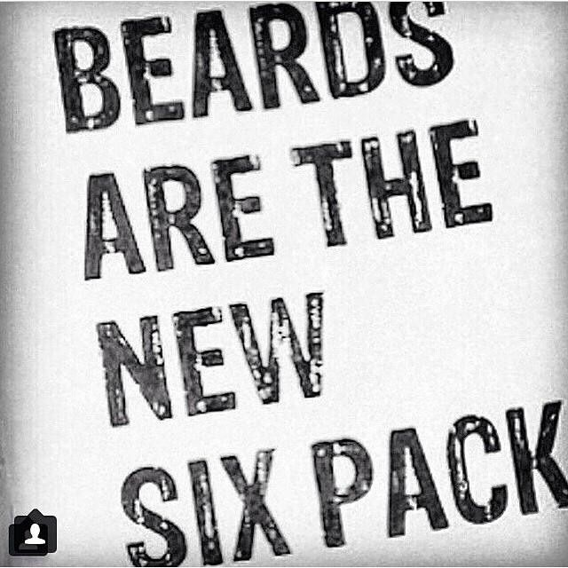 Six packs are the new six pack but you still gotta beard up.. boston winters,