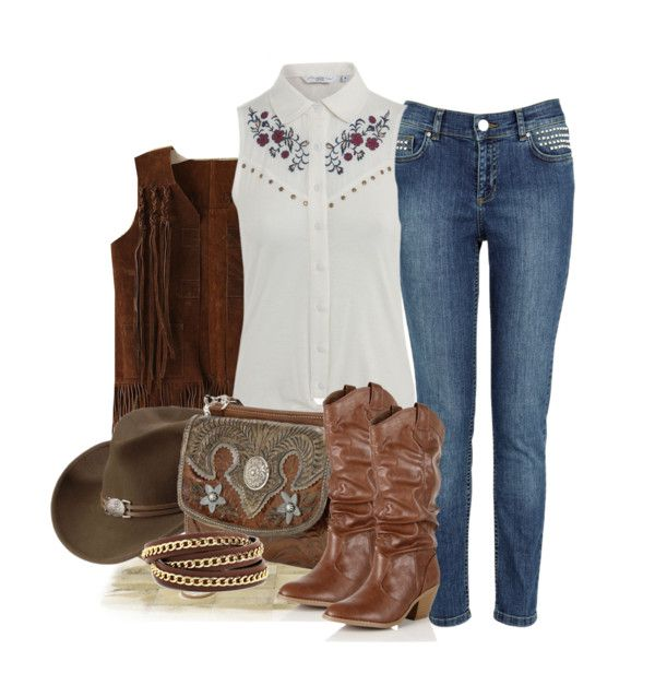 """""""Cowgirl On Duty"""" by weeyz ❤ liked on Polyvore"""