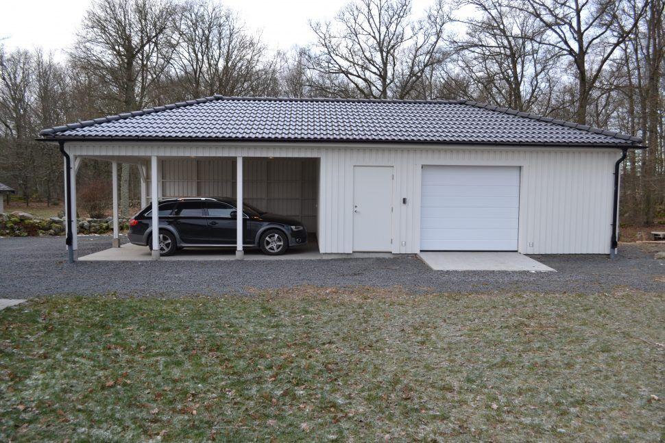 Carport med garage och förråd, Aasarum Carport, Garage