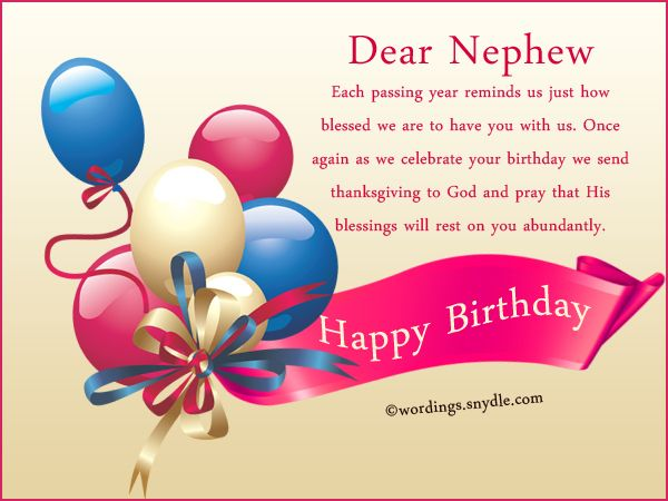 Birthday Cards Nephew ~ Nephew birthday messages happy wishes for wordings and
