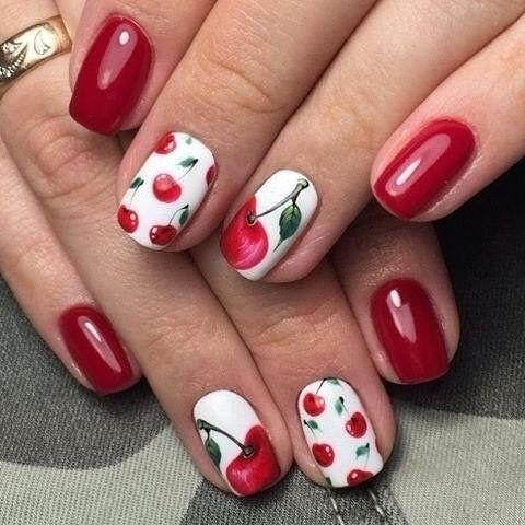 Berry nails, Burgundy nails ideas, Cherry nails, Fresh nails, Glossy nails… - Nail Art #2061 - Best Nail Art Designs Gallery Cherry Nails, Berry