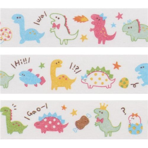 cute colorful dinosaur deco tape sticky tape by Q-Lia 1