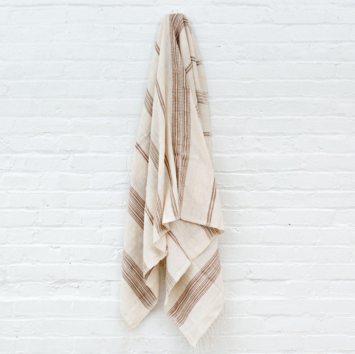 Biege Striped Cotton Bath Towel Beige In 2019 Eco Friendly