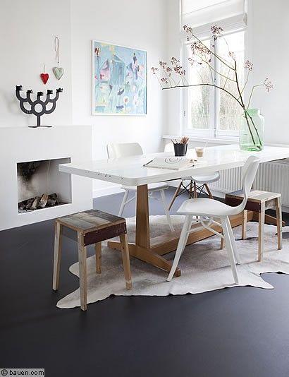 die neue linoleum generation fu boden esszimmer und bodenbelag. Black Bedroom Furniture Sets. Home Design Ideas