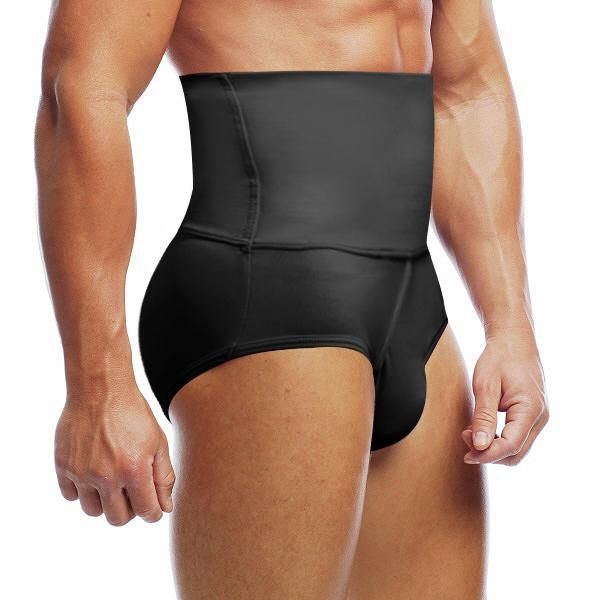 Men/'s Compression High Waist Boxer Shorts Tummy Control Body Shaper Underwear