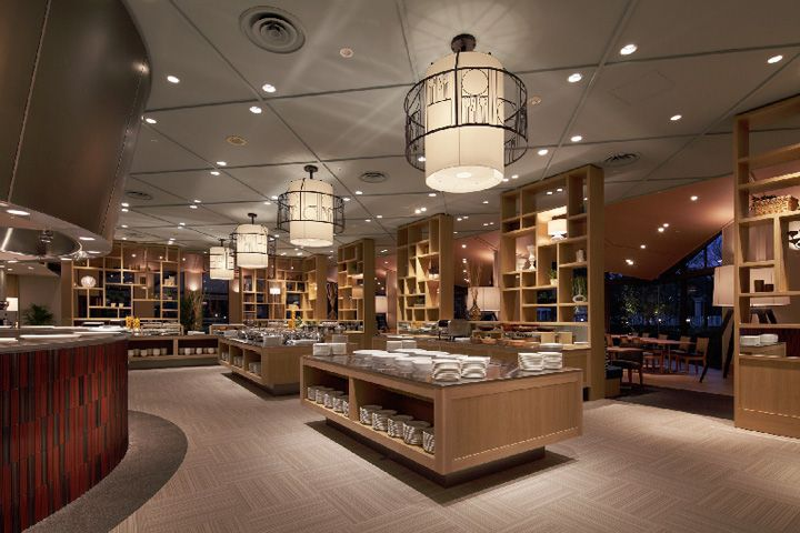 Serina buffet restaurant by fan design label narita japan - Interior design for hotels and restaurants ...
