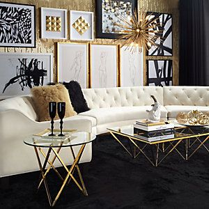 Best Black Gold Silver Living Room White 400 x 300