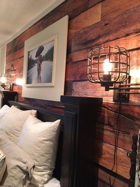 Reclaimed Wood Bedroom Set White Distressed Furniture Sets: Komar Reclaimed Rustic Wood Wall Mural Wallpaper In 2019