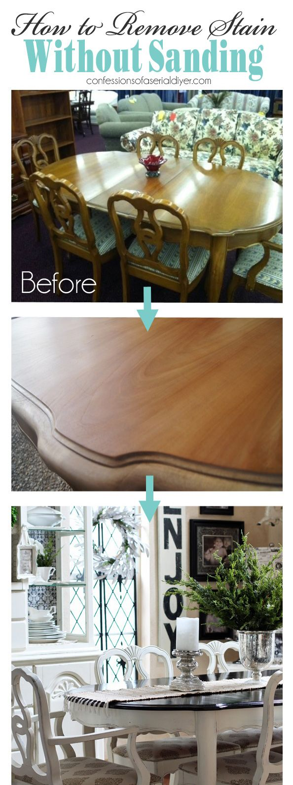 painting kitchen tables and chairs no sanding