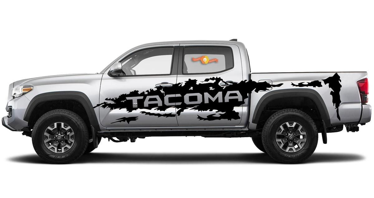 Product Toyota Tacoma Vinyl Side Large Decal Sticker Graphics Stripe 2016 2019 Toyota Tacoma Tacoma Truck Large Decal