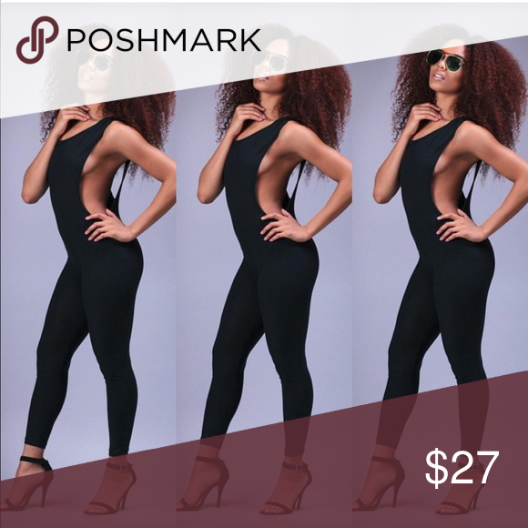 Black Catsuit💋 Sexy catsuit with side and back opening✨ Pants Jumpsuits & Rompers