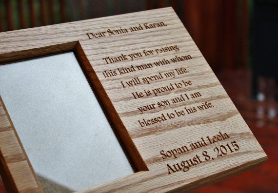Personal Message Oak Picture Frame With Carved Lettering Oak