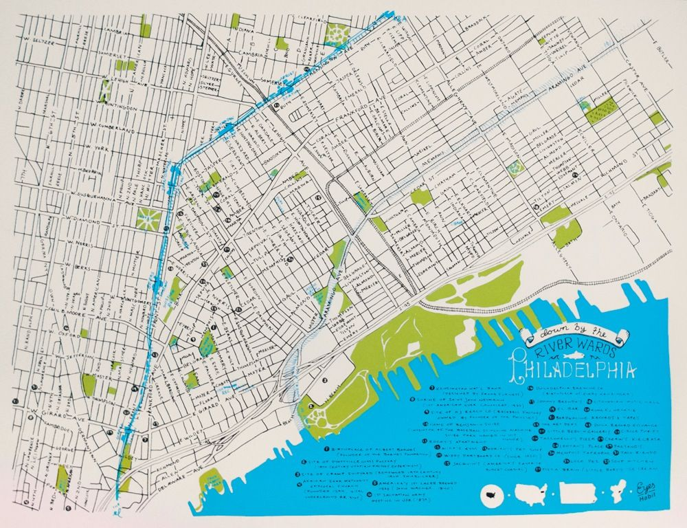 map of kensington philadelphia The River Wards Map Map Philadelphia Map River map of kensington philadelphia