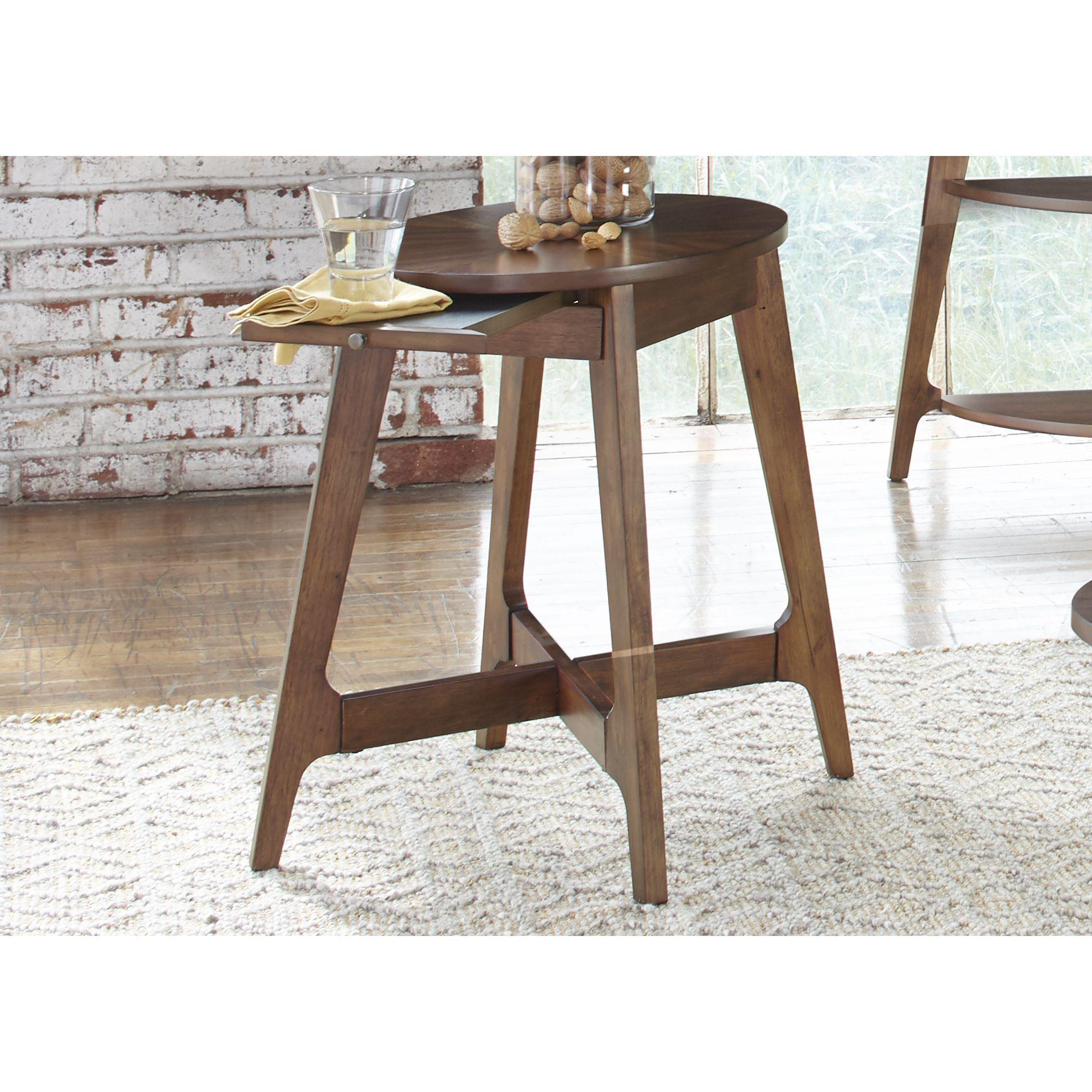 Liberty landon dark blonde modern chair side table landon dark