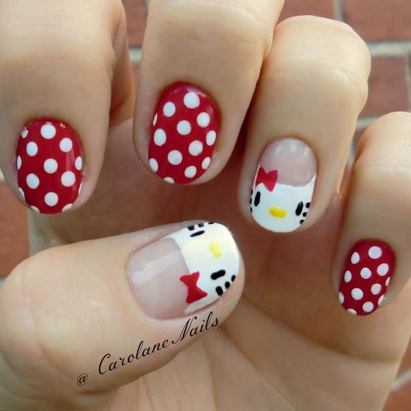 50 Hello Kitty Nail Designs | Hello kitty, Kitty and Hello kitty nails