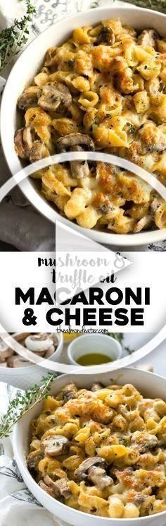 minutes and one skillet this mac and cheese is filled with mushrooms parmesan cheese and truffle oil A quick dinner for all cheese lovers minutes and one skillet this mac...