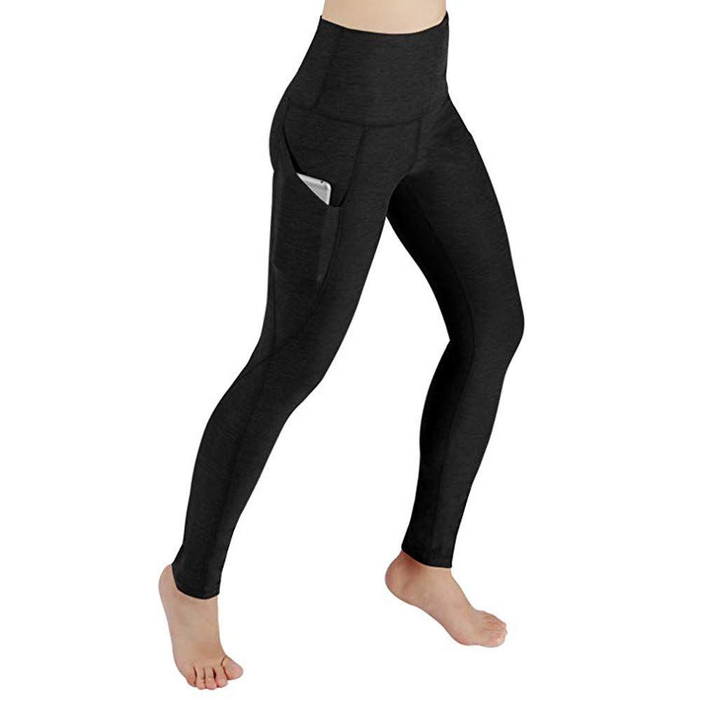 Damen Sports Fitnesshose Gym Yoga Leggings Running Hosen Push Up Workout Leggins