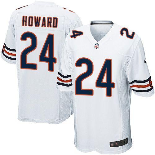 size 40 fea86 d20c5 Men's Nike Chicago Bears #24 Jordan Howard Game White NFL ...