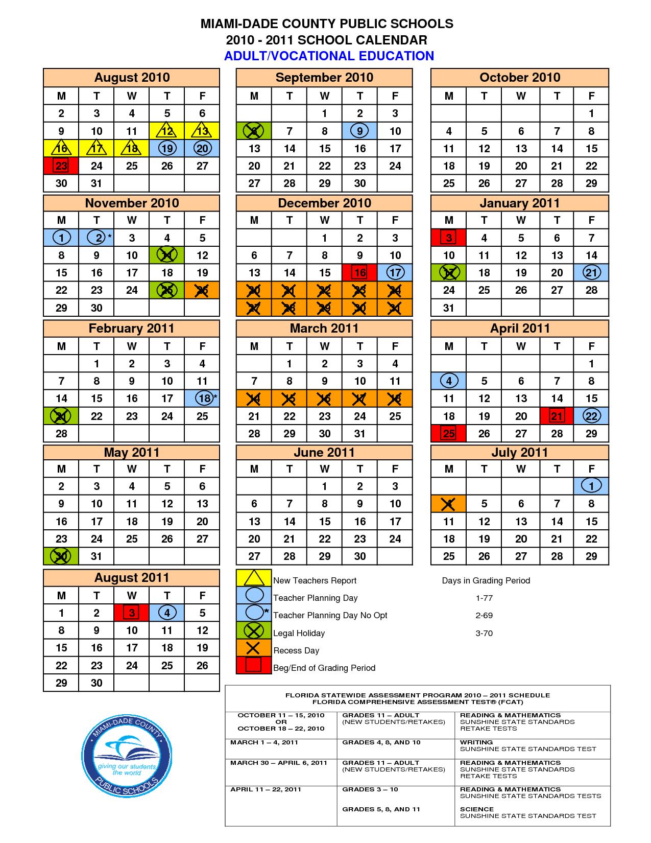 2014 2015 Miami Dade County School Calendar Home Addition