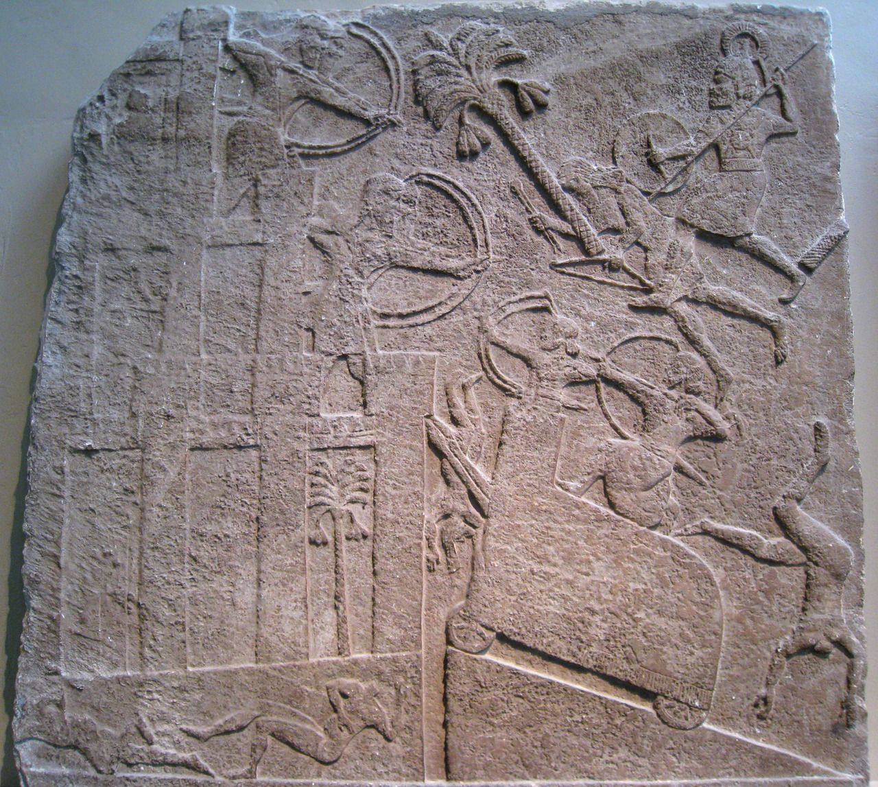 Assyrian Troops Attacking A Besieged City Most Likely In Mesopotamia Using A Battering Ram On A Siege Ram Ancient Discoveries Ancient Mesopotamia Mesopotamia