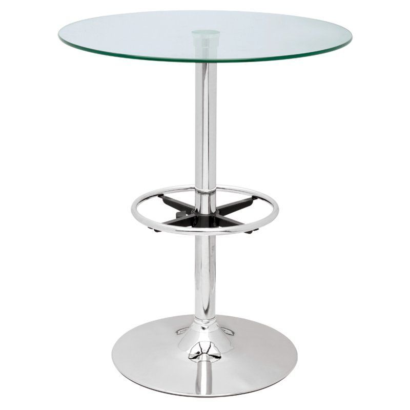Chintaly Modern Round Glass Top Pub Table - PUB TABLE-30 | Products ...