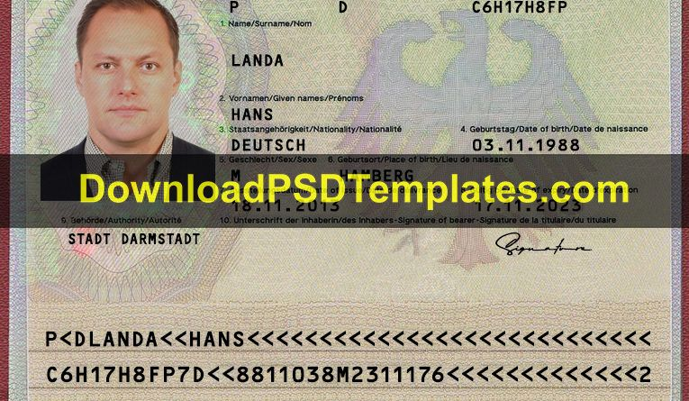 Download Psd Templates Free Premium Photoshop Files Passport Template Templates Printable Free Templates