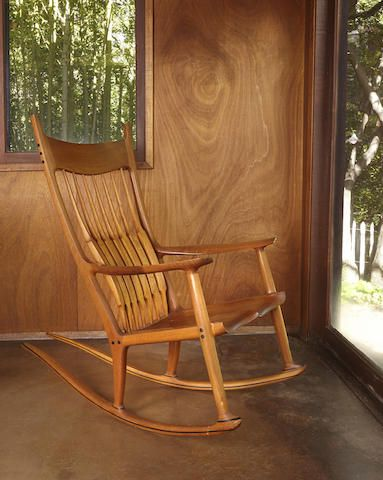 Awe Inspiring Sam Maloof 1916 2009 Rocking Chair1989 Teak Ebony Ibusinesslaw Wood Chair Design Ideas Ibusinesslaworg