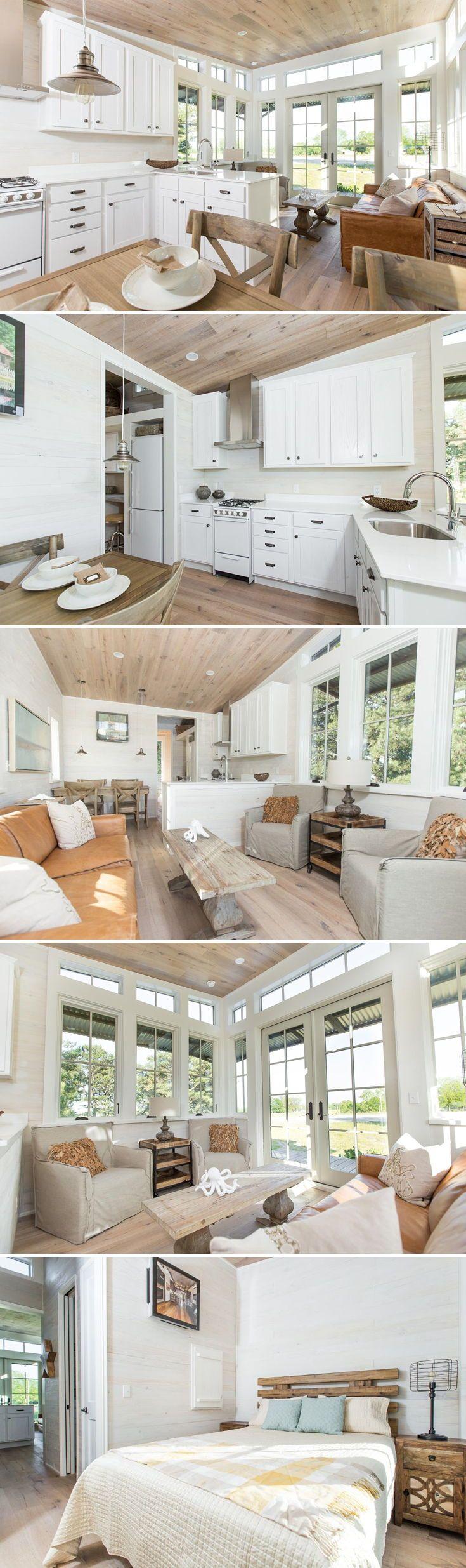 Saltbox by Clayton Tiny Homes | Shiplap wood, Wood siding and Oak ...
