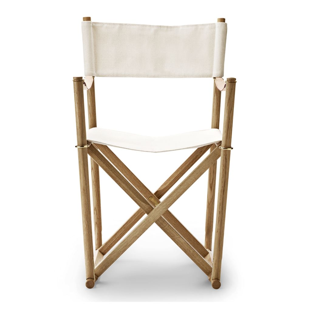 Groovy Mk99200 Folding Chair Oiled Oak White Canvas Products Ncnpc Chair Design For Home Ncnpcorg
