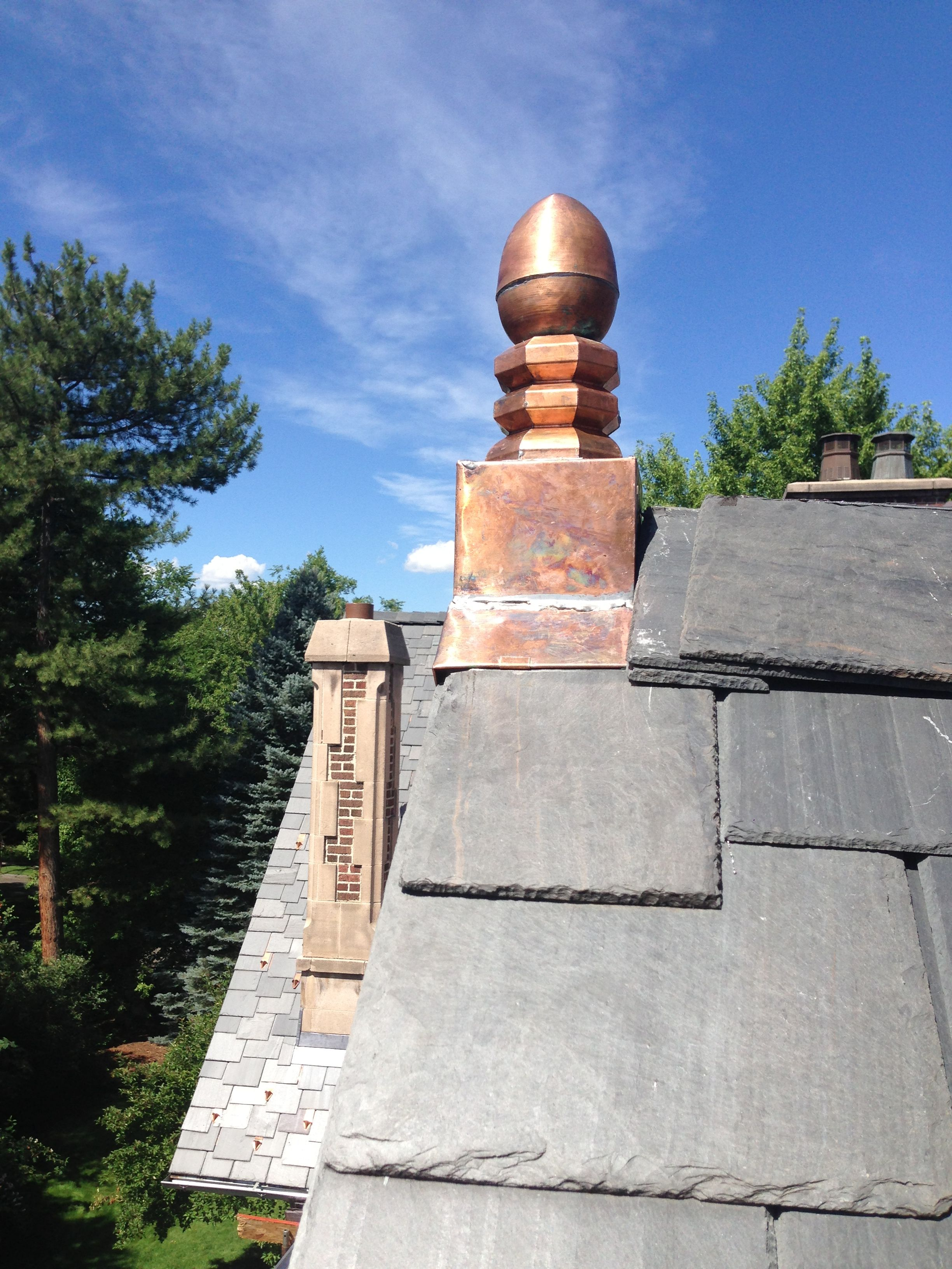 Raleigh Roofing And Restoration Custom Copper Copper Gutters Roof Architecture Brick And Stone