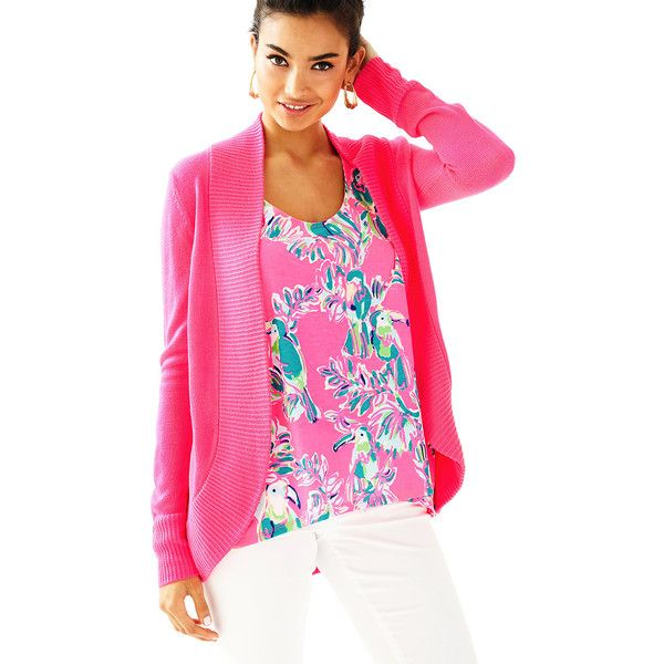 Lilly Pulitzer Amalie Open Front Cardigan ( 138) ❤ liked on Polyvore  featuring tops 28d741bff