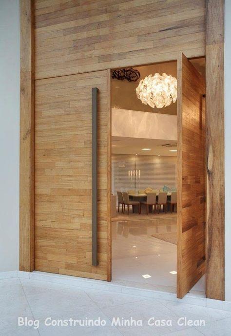 PORTA DE ENTRADA Construindo Minha Casa Clean: Casa Maravilhosa! Fachada e Interior Super Moderno!!!