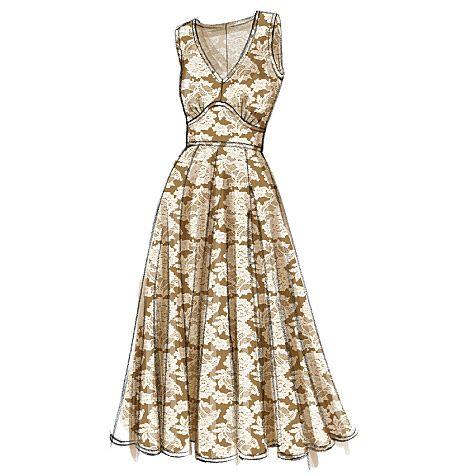 Patron de robe - Vogue 8727 | технические эскизы моды | Pinterest ...