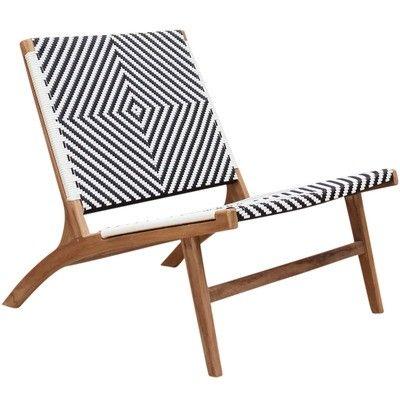 Carrington Furniture Zahara Teak Outdoor Lounge Chair