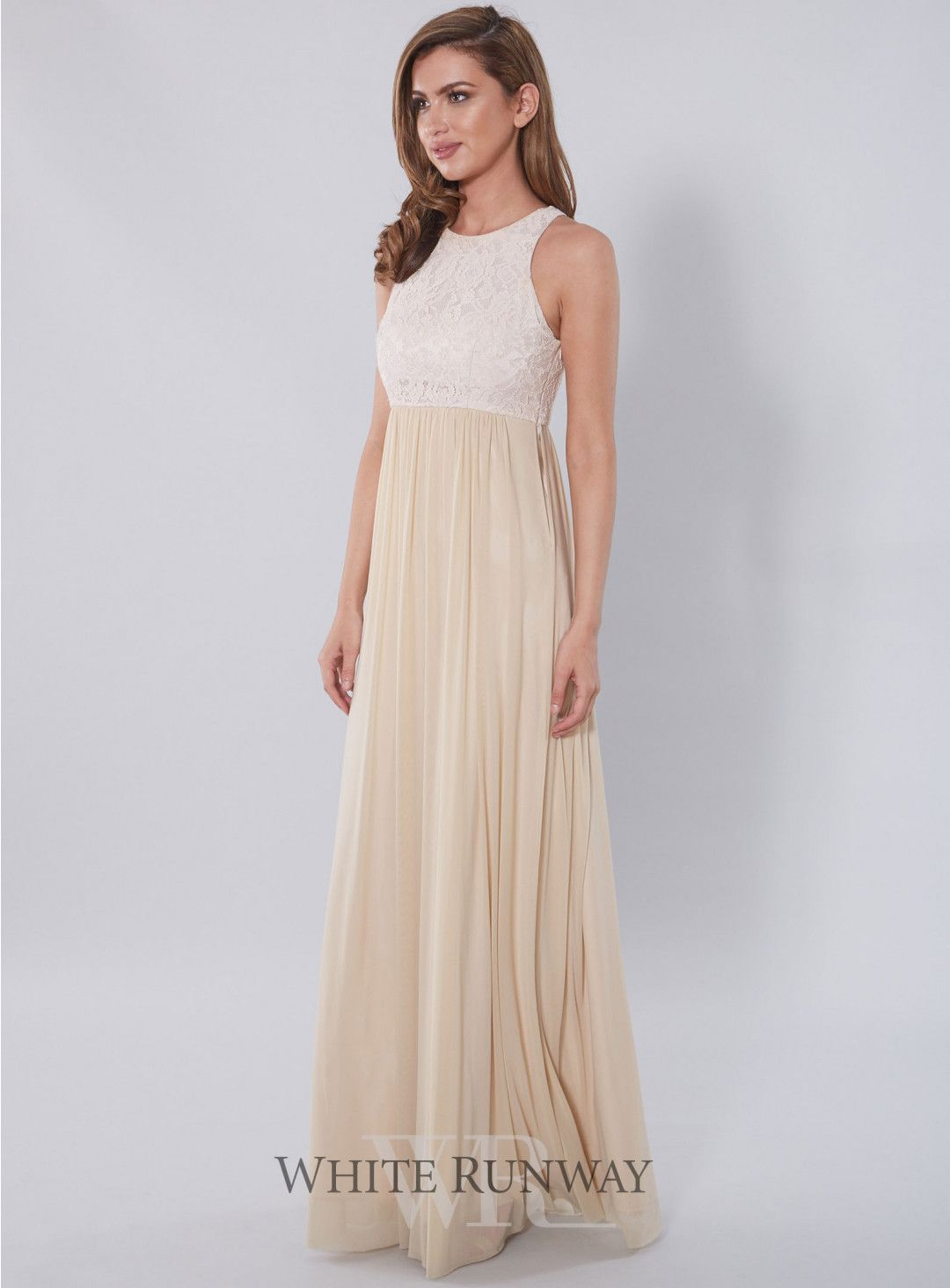 b33f345d11 Aneeta Lace Dress. Beautiful full length bridesmaid dress by Samantha Rose.  A flattering style featuring a stunning lace bodice and stretch chiffon  skirt.