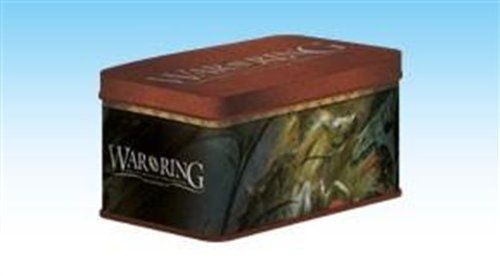 War of the Ring 2nd Edition - Card Box and Sleeves (120) by Ares Games. $16.94. The metal tin and 120 card protectors will also be made available separately as the War of the Ring Card Box and Sleeves, which can be used with 2nd Edition.. Save 17%!