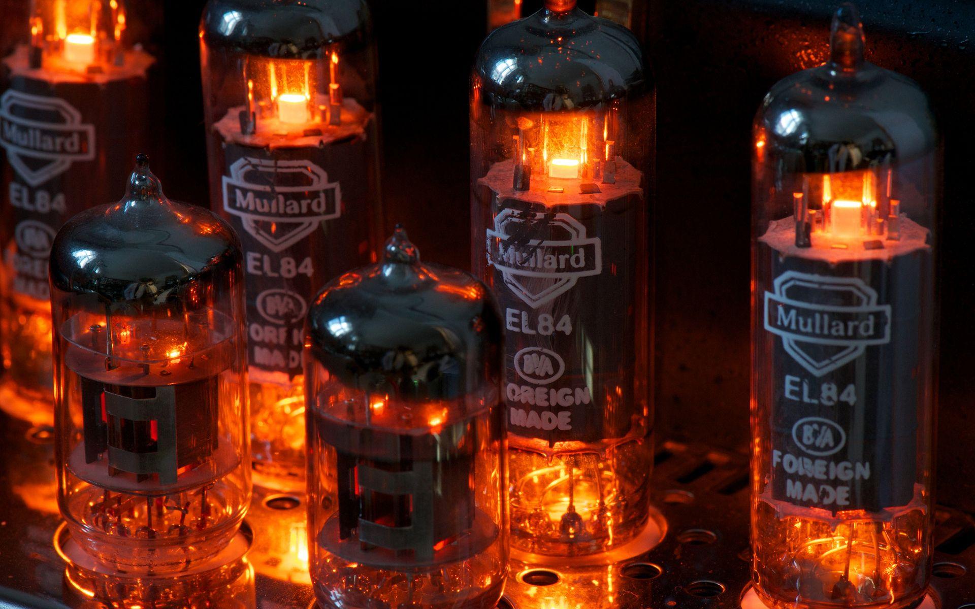 Vintage retro old tubes electricity light color amplifier vacuum ...