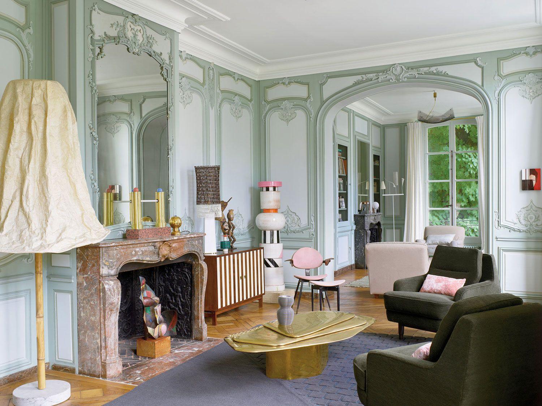 Memphis meets ornate 18th century parisian apartment for Riviste interior design