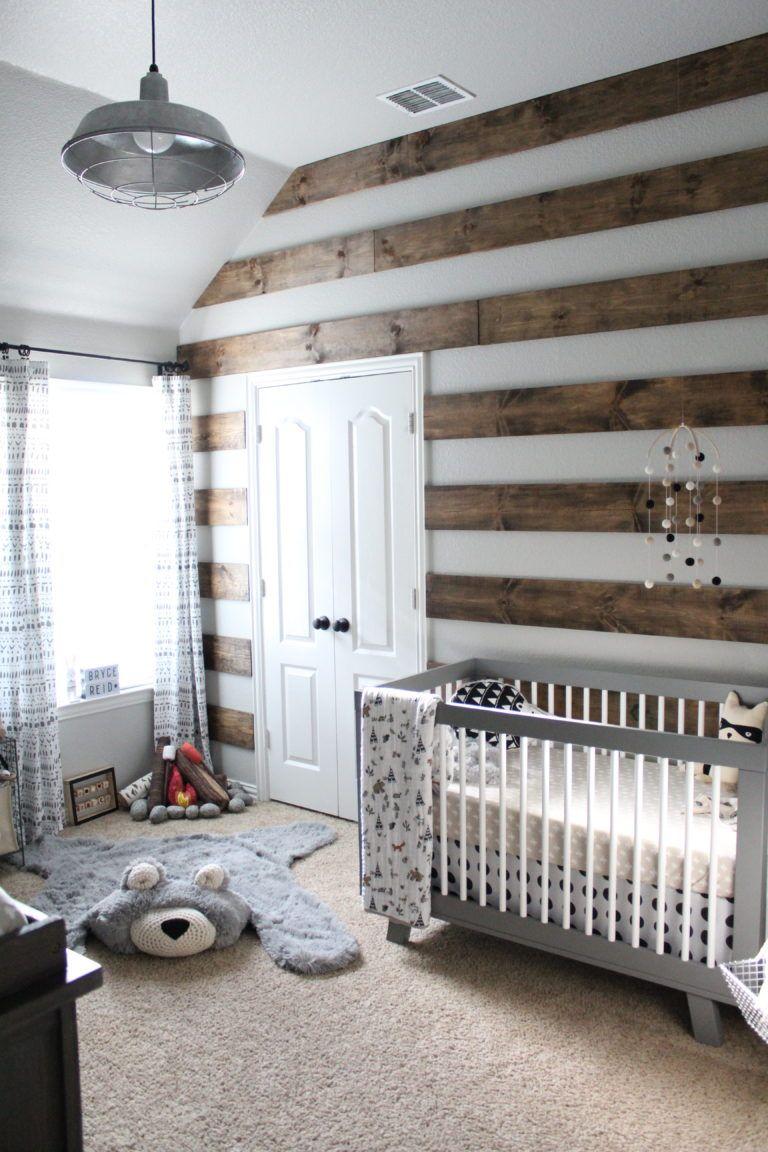 Baby Boy Room Wall Ideas: Bryce's Rustic Meets Modern Monochrome Nursery