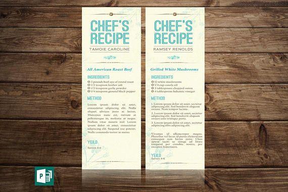 vintage menu bookmarker publisher template 6 background