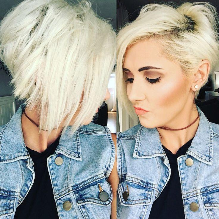 Short Hairstyles Platinum Blonde Hair | Hair