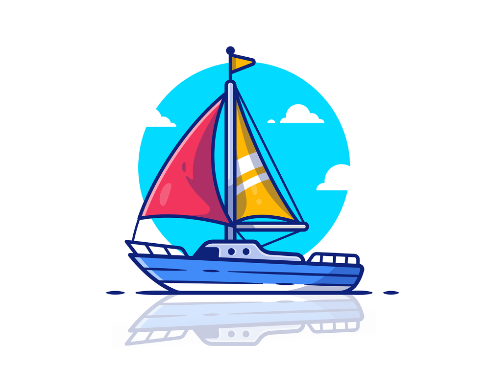 Boat Ship On Behance Boat Cartoon Creative Art Graphic Design Illustration