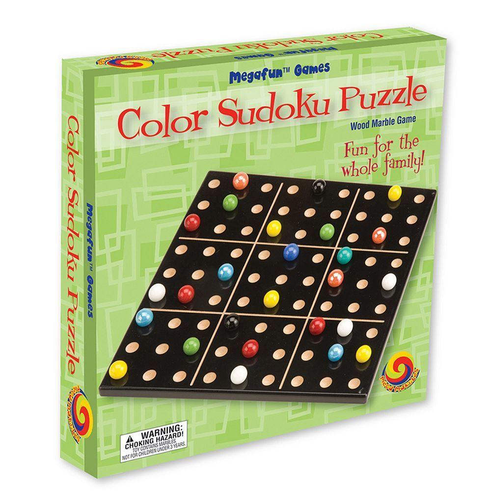 Color Sudoku Puzzle by MegaFun USA, Multicolor Sudoku